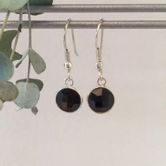 Onyx earrings silver 925