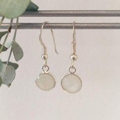 White moonstone earrings silver 925