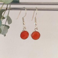 Carnelian earrings silver 925