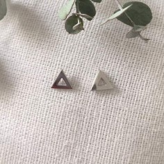 Small triangles earrings silver 925