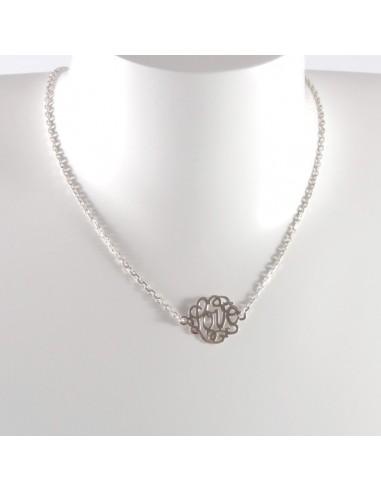 Collier chaine argent motif Love argent