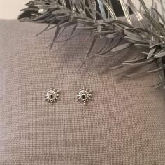 Boucles d'oreilles mini soleil argent