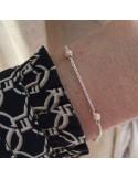 Chain bracelet silver 925 five small stones