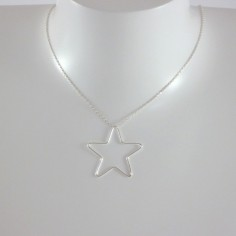 Collier chaine argent grosse Etoile