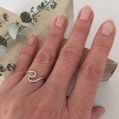 Wave ring silver 925