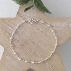 Bracelet chaine argent mini perles