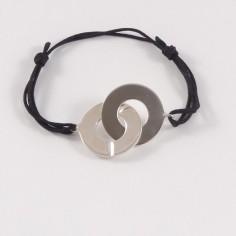 Bracelet homme grosses Menottes rondes argent