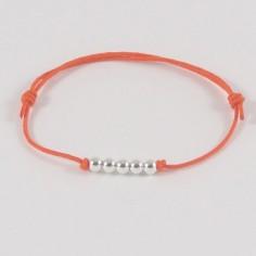 Bracelet enfant 5 petites Perles argent lisses