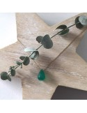 Faceted green ony...