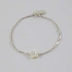 Bracelet chaine argent Etoile nacre blanche