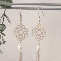 Sand dollar earrings silver 925