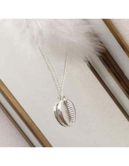 Medium sun medal chain necklace silver 925