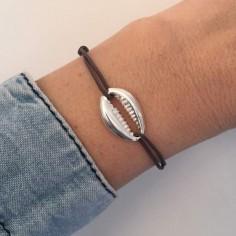 Cord bracelet silver 925 big braid ring