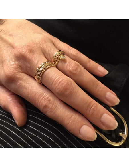 Perforated ring gold plated