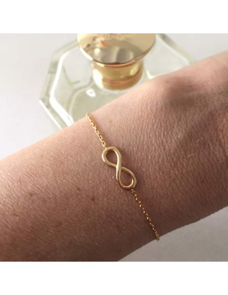Chain bracelet gold plated infinity