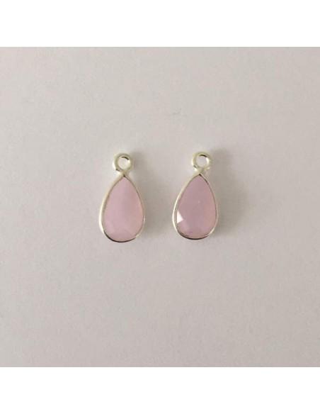 Small creole bee earrings silver 925