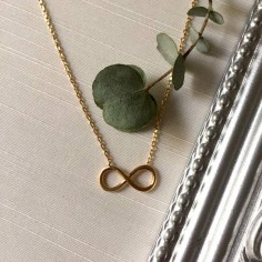 Infinity chain necklace gold plated