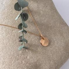 Collier chaine plaqué or mini médaille ronde