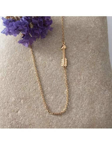 Small arrow chain necklace gold plated
