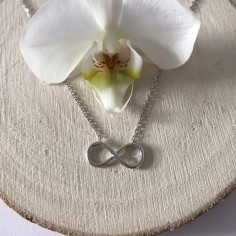 Infinity chain necklace silver 925