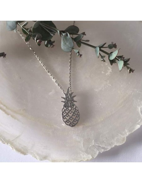 Pineapple chain necklace silver 925