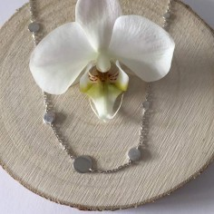 Collier chaine argent 11 mini Pastilles