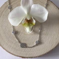 Eleven small pastilles chain necklace silver 925