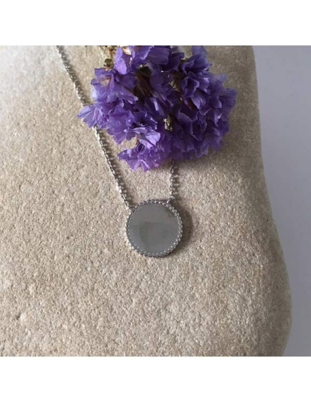 Beads pastille chain necklace silver 925
