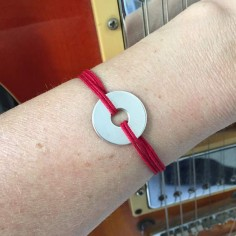 Cord bracelet silver 925 target