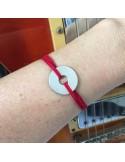 Bracelet homme Cible argent