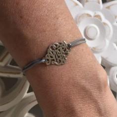Cord bracelet silver 925 angel