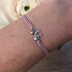 Cord bracelet silver 925 small knot