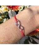 Cord bracelet silver 925 infinity
