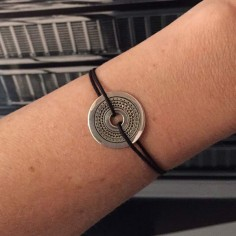 Cord bracelet silver 925 ethnic target