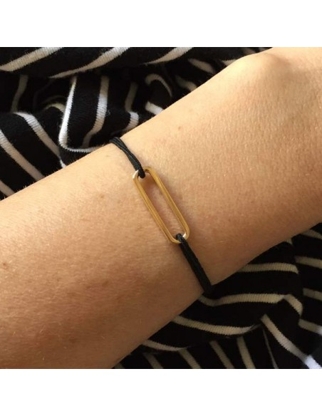 Child gold plated small link cord bracelet