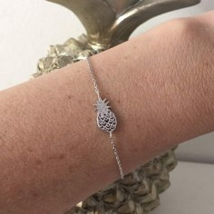 Chain bracelet silver 925 pineapple