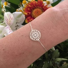 Chain bracelet silver 925 small sun