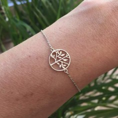 Chain bracelet silver 925 tree of life