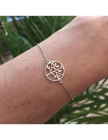 Chain bracelet silver 925 tree of life