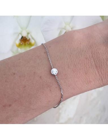 Chain bracelet silver 925 zircon