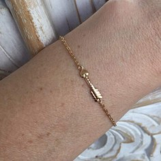 Chain bracelet gold plated arrow