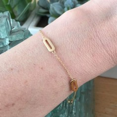 Chain bracelet gold plated four small links