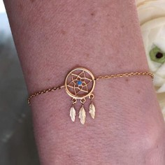 Chain bracelet gold plated dreamcatcher