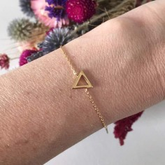 Chain bracelet gold plated triangle