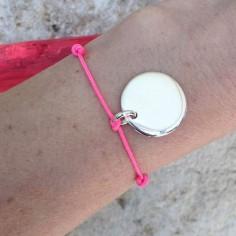Bracelet barette petit zircon argent