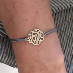 Cord bracelet silver 925 love
