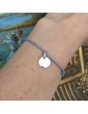 Cord bracelet silver 925 small medal