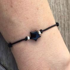 Bracelet Agate blanche carrée
