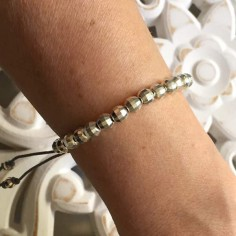 Elise bracelet silver 925 big faceted beads