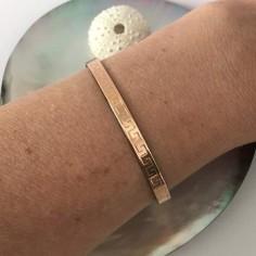 Egyptian flat bangle bracelet pink gold plated